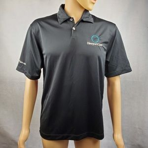Nike Golf Dri-Fit Newport Care Black Polo Size S